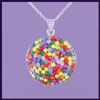 Multi-coloured Swarovski Crystal Round